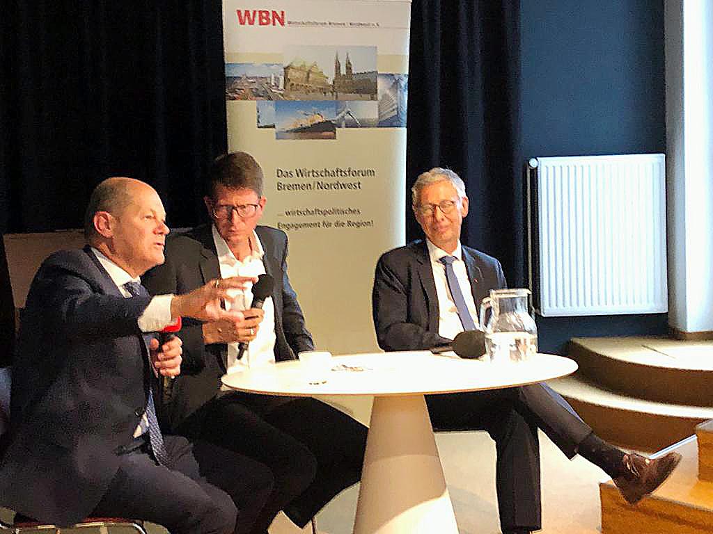 wbn-veranstaltung mit Olaf Scholz und Carsten Sieling